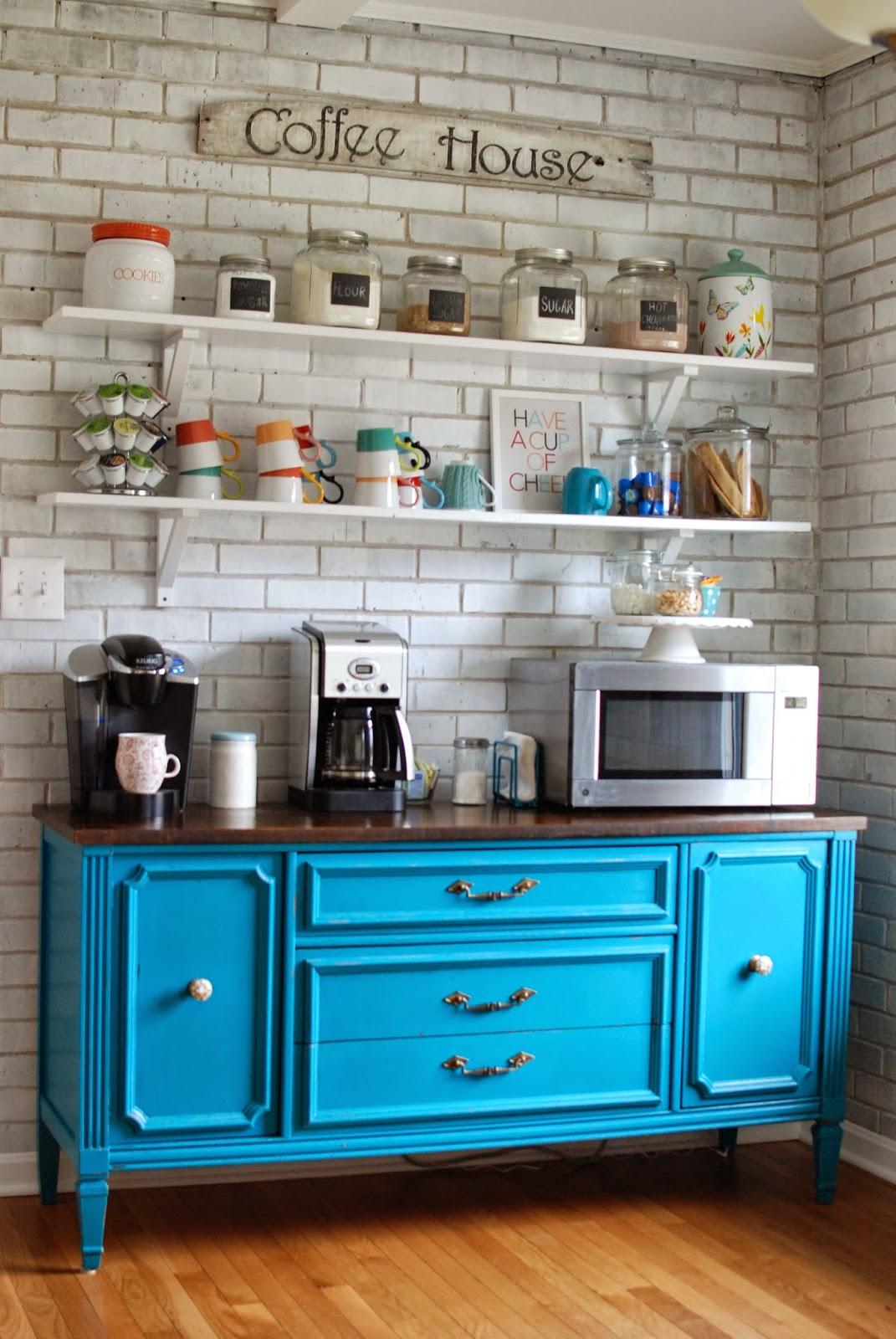Coffee Bar Kitchen: Caught In Grace: Kitchen Buffet / Coffee Bar