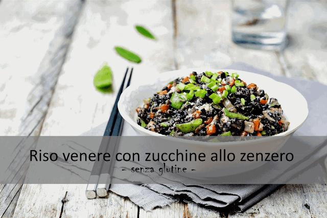 Riso venere con zucchine allo zenzero