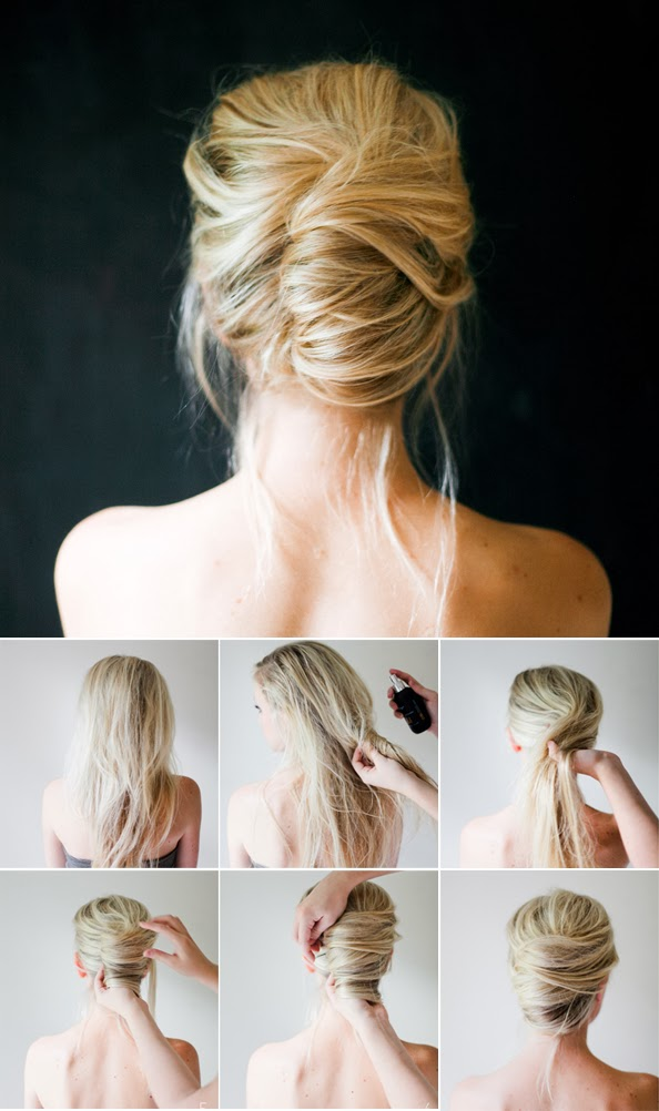 Maiko Nagao DIY Messy French twist tutorial by Once Wed