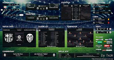 PES 2018 La Liga Santander v4 Scoreboard by Txak