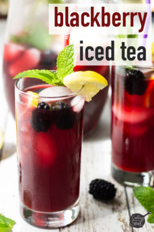 Blackberry Iced Tea #drink #blackberry #easy #recipes #smoothie