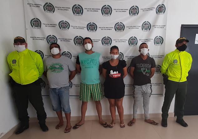 Cuatro jibaros de Fonseca capturó la Policía