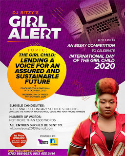 GX GOSSIP: GIRL ALERT 2: DJ RITZY ANNOUNCES ESSAY COMEPETITION TO CELEBRATE THE GIRL CHILD