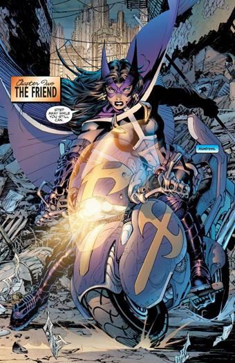 The Huntress es aliada de Batman