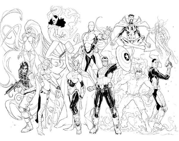 Personaggi Marvel Da Colorare