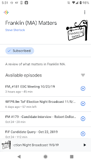 "search in ""podcasts"" for ""Franklin Matters"""