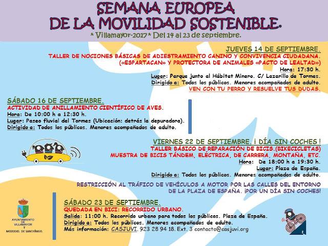 SEMANA DE LA MOVILIDAD EUROPEA VILLAMAYOR, SALAMANCA EN BICI