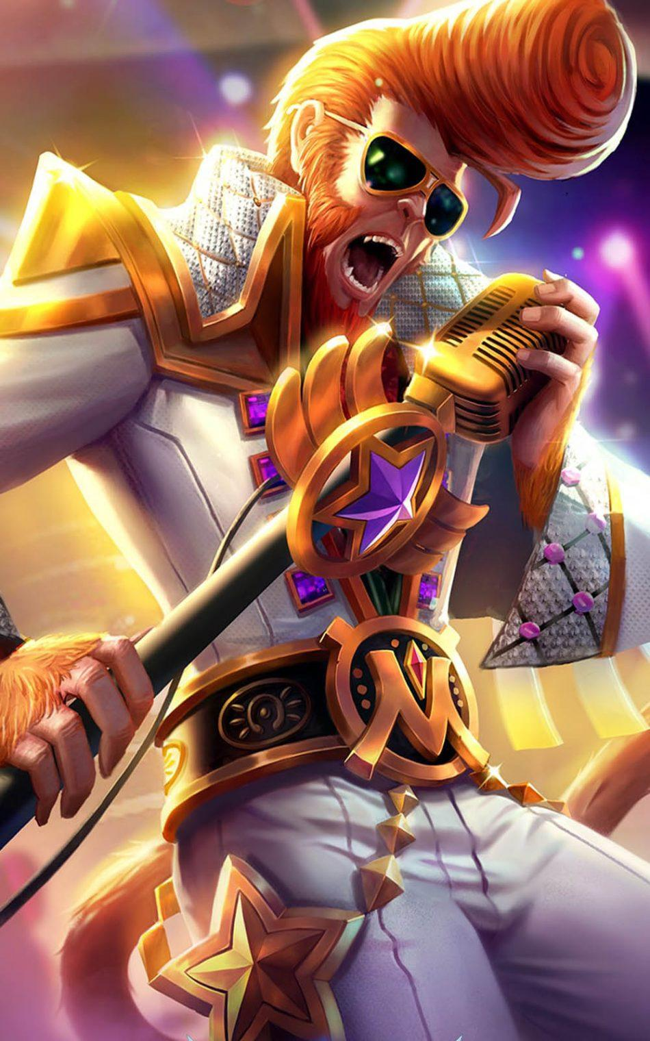 Wallpaper Sun Rock Star Skin Mobile Legends HD for Android and iOS