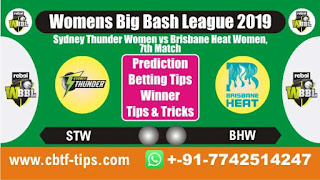Who will win Today, WBBL T20 2019, 7th Match STW vs BHW