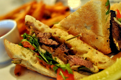 Steak Sandwich at Marble Lane in New York, NY - Photo by Taste As You Go