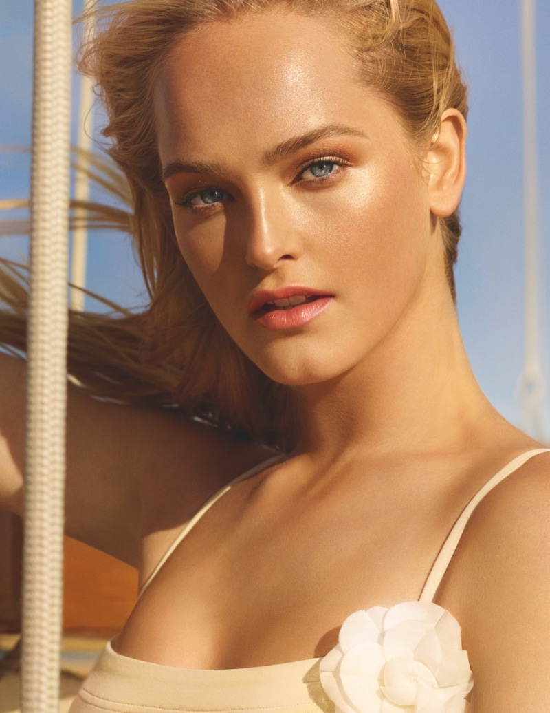 Jean Campbell stars in Chanel Les Beiges Summer of Glow 2020 campaign.