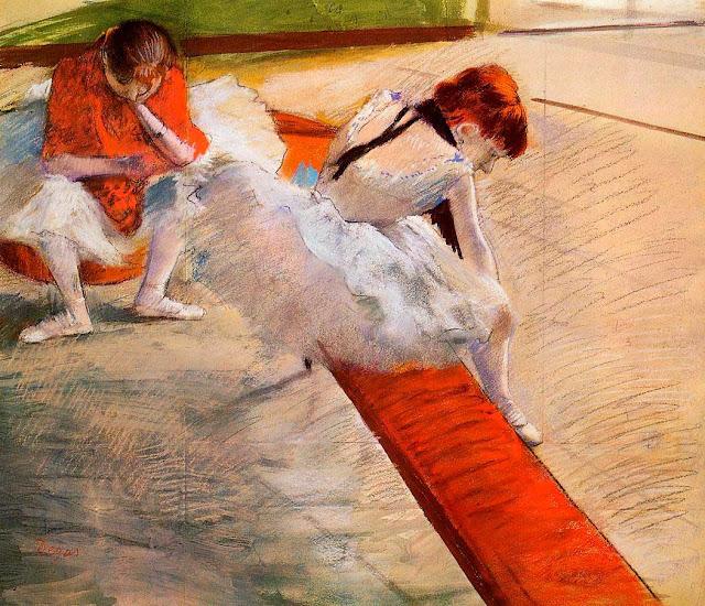 Эдгар Дега - Танцовщицы на отдыхе (1879)
