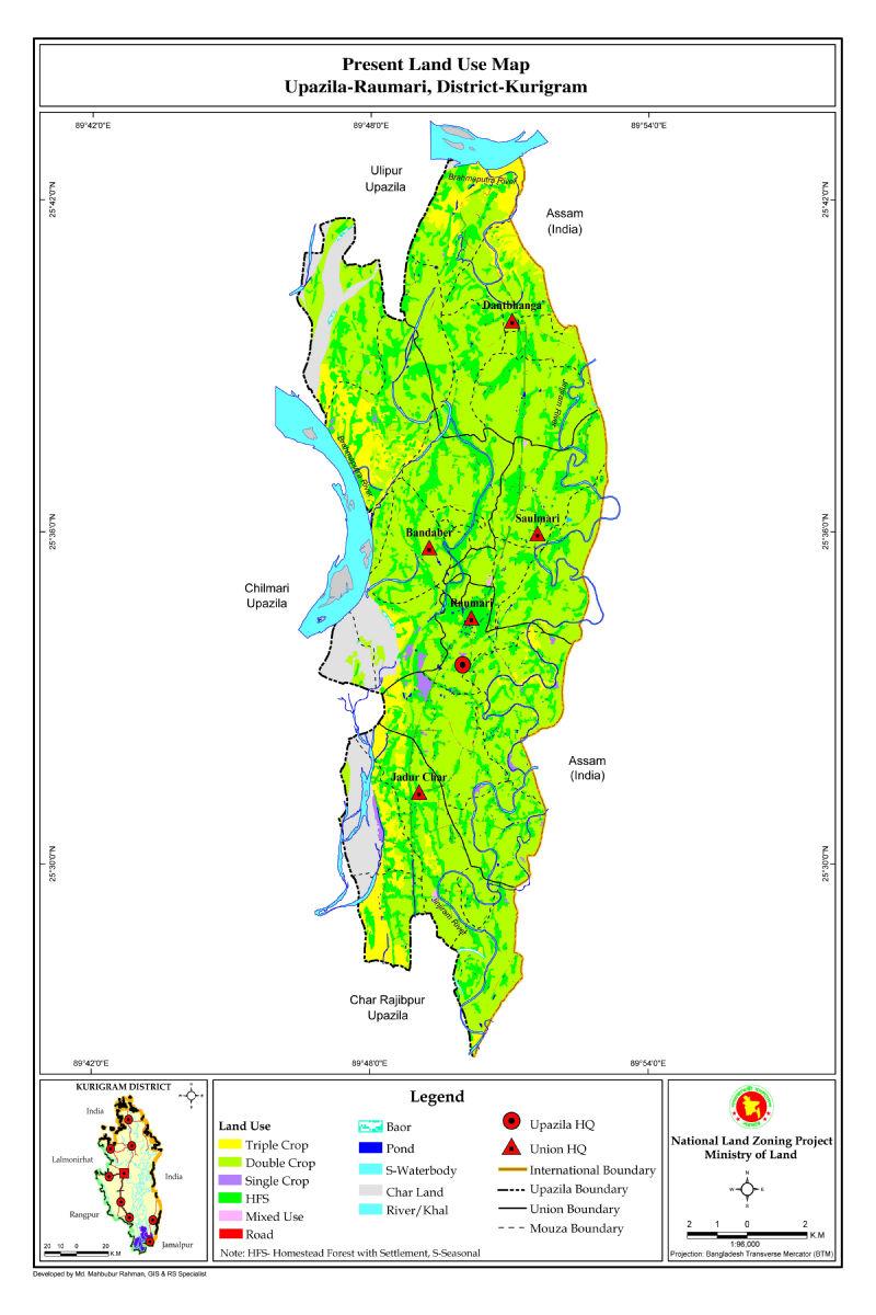 Rowmari Upazila Mouza Map Kurigram District Bangladesh