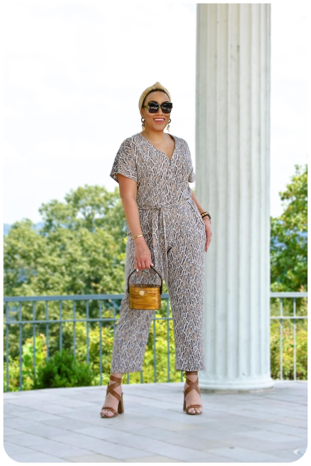 McCall's 7936 - Snake Print Jumpsuit - Erica Bunker DIY Style!