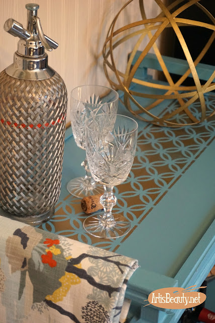 hollywood regency style bar cart makeover using general finishes before and after diy