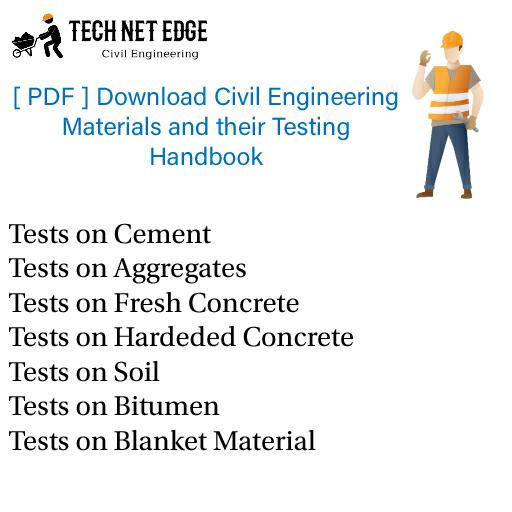 [PDF]Download Civil Engineering Materials and their Testing Handbook