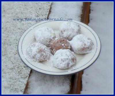 Strawberry Chocolate Crunch Snowballs | www.BakingInATornado.com | #recipe #cookies