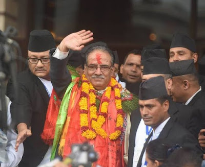 Puspa Kamal dahal prachanda elected as pm of nepal
