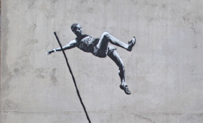 If It's Hip, It's Here (Archives): Banksy's New Olympic ...