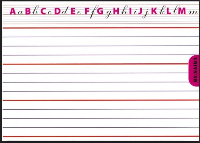 نموذج ورقة مسطرة للكتابة
