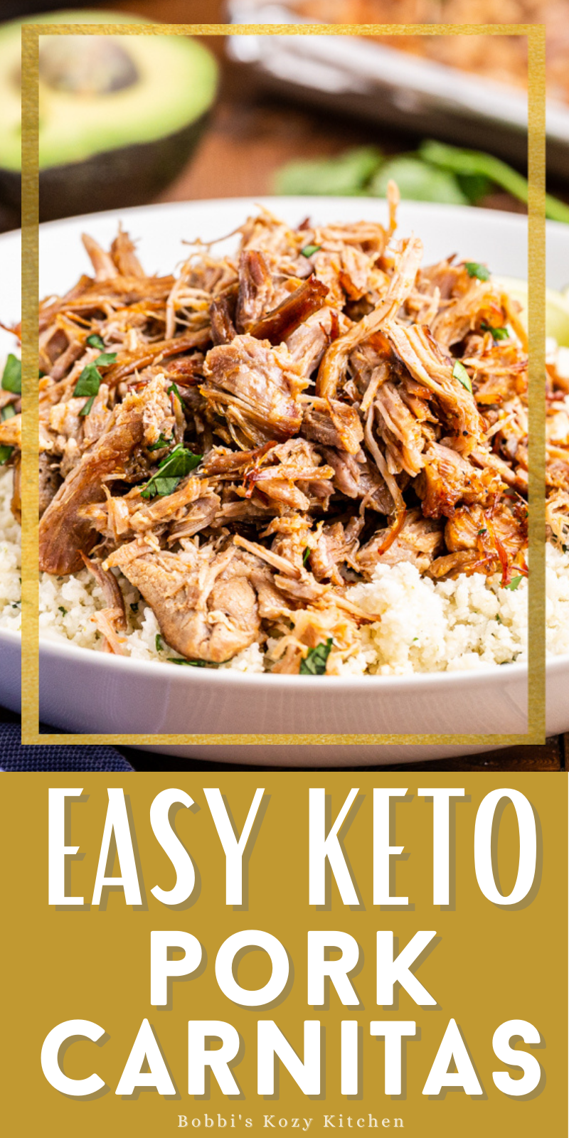 Easy Keto Pork Carnitas (Instant Pot and Slow Cooker) - This easy keto pork carnitas recipe creates the juiciest, most flavorful carnitas you can make, all while staying low carb. Even if you aren't on the keto diet, this carnitas recipe is a MUST make! #keto #lowcarb #glutenfree #mexican #instantpot #slowcooker #pork #carnitas #recipe
