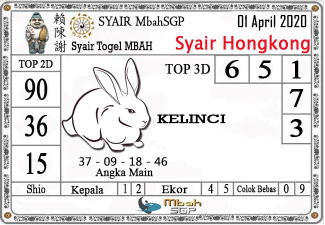 Prediksi Togel Hongkong Rabu 01 April 2020 - Syair Mbah HK