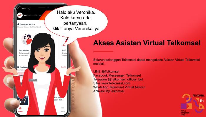 Tanya Veronika Asisten Virtual Untuk Mengatasi Sinyal Telkomsel