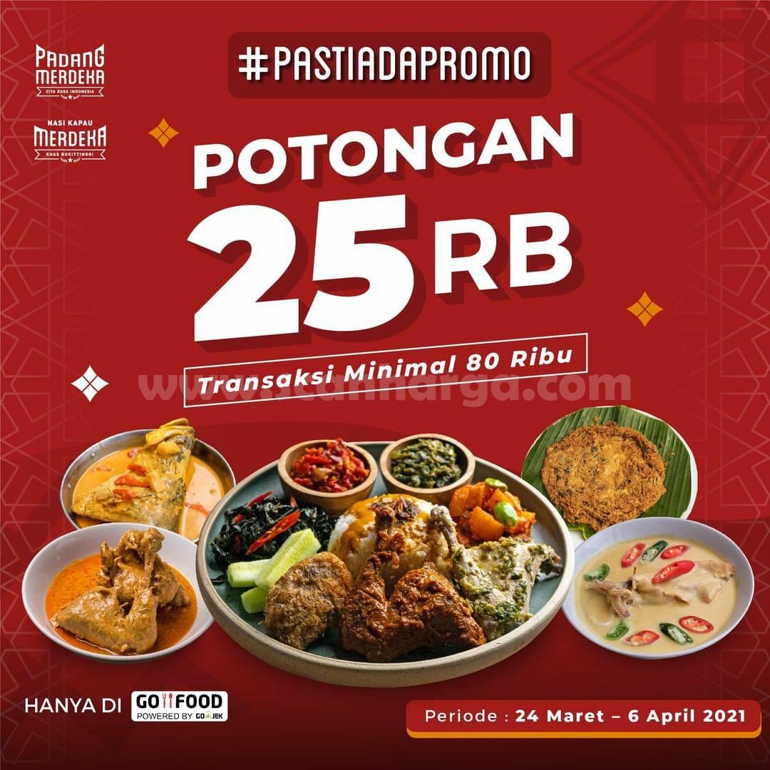 PADANG MERDEKA Promo DISKON 25 Ribu via Aplikasi GOFOOD