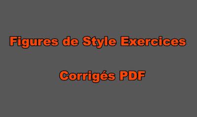 les Figures de Style Exercices Corrigés PDF