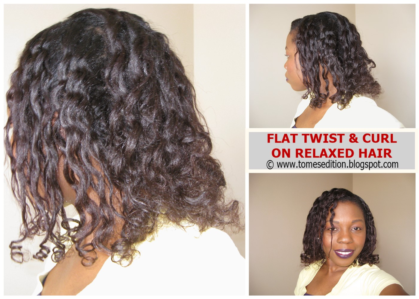 Tomes Edition: My 24hr Flat Twist & Curl On Relaxed Hair…