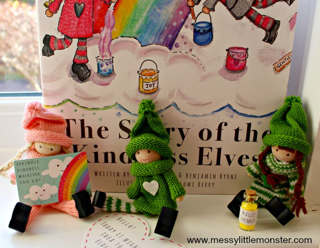 The Kindness Elves as an alternative to the popular kids Christmas tradition of Elf on the Shelf. Encouraging small acts of kindness and good deeds these magical elves teach children how to be kind and thoughtful.