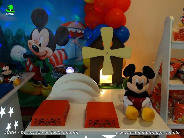Decoração festa Mickey Mouse - Provençal simples
