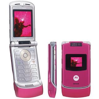 Motorola RAZR V3, Ponsel Flip Para Artis