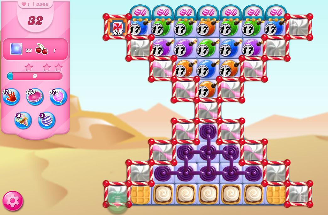Candy Crush Saga level 8366