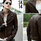 jas exclusive jaket+kulit+korean+style+cokelat+%28sk 14%29