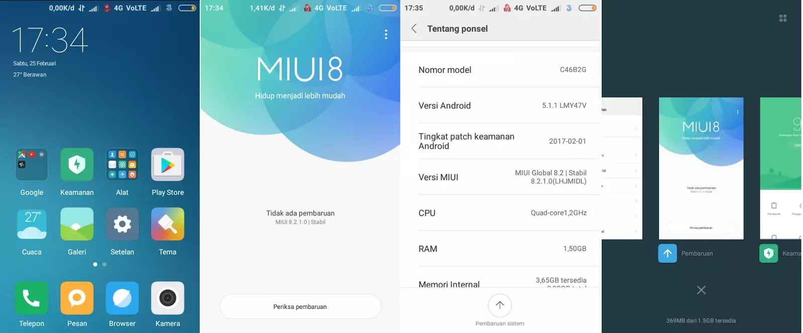Custom ROM Miui 8 Global Stable 8.2.1.0 VoLTE Andromax ES