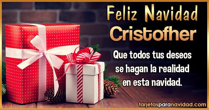 Feliz Navidad Cristofher