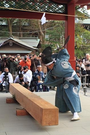 Chouna-Hajimeshiki (First Construction Ceremony) at Tsurugaoka-Hachimangu Shrine, Kamakura, Kanagawa