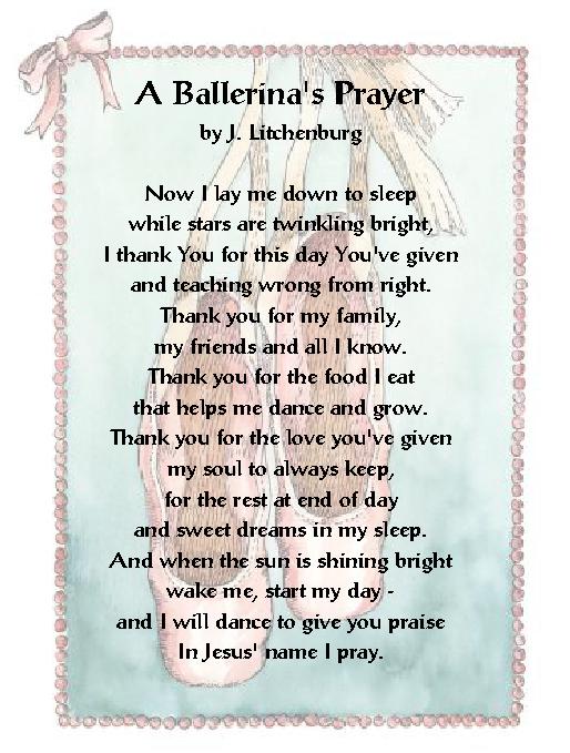 Faith Family Amp Fun 4 Kids A Ballerina S Prayer