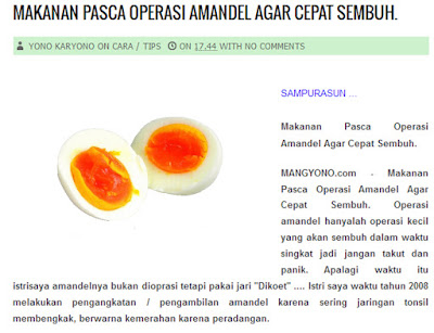 Makanan Pasca Operasi Amandel Agar Cepat Sembuh.