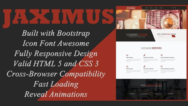 Jaximus - Responsive Coming Soon Blogger Template