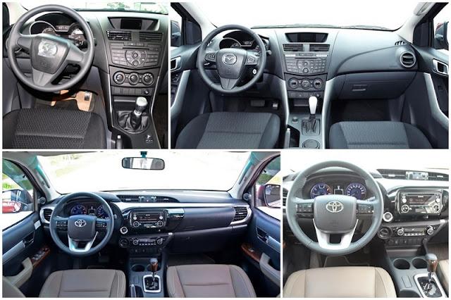 so sanh mazda bt50 vs toyota hilux 2016 6 - So sánh Toyota Hilux va Mazda BT-50 tại Việt Nam