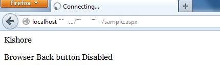 how to disable back button of browser in php
