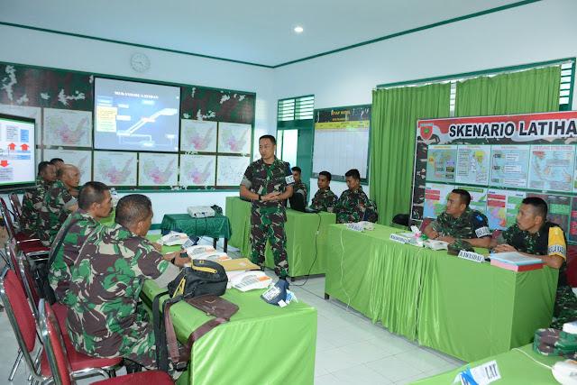 Bantu Pemkab Tanggulangi Bencana, Kodim 1425/Jenenponto Laksanakan Latihan Posko