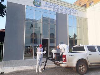 Órgãos públicos de Campo Maior recebem sanitização