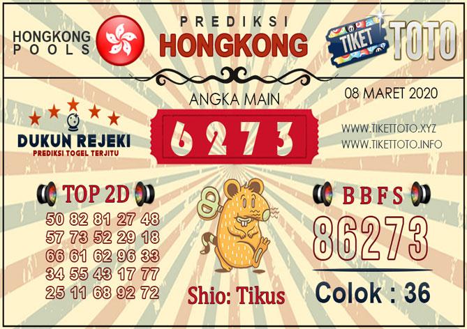 Prediksi Togel HONGKONG TIKETTOTO 08 MARET 2020