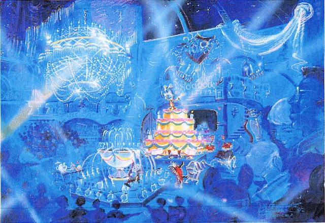 Beauty and the Beast Animatronic Show Disneyland Paris Concept Art Never Built