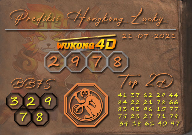 PREDIKSI TOGEL HONGKONG LUCKY7 WUKONG4D 21 JULI 2021