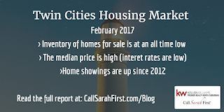 Stats: Inventory is low, median price is up, showings are up
