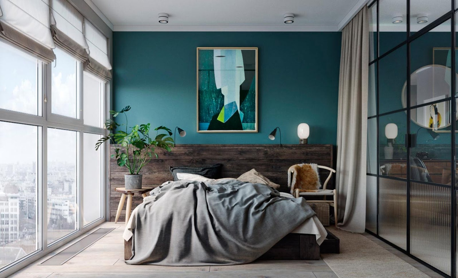 Bedroom Glass Chair Leap V2 Design Attractor Super Fresh Tiny Loft Apartment In Kiev